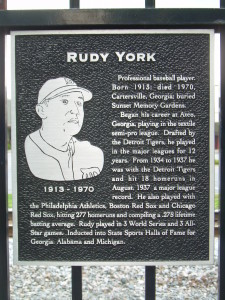 Rudy York placque